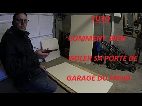tuto comment bien isoler sa porte de garage du froid youtube. Black Bedroom Furniture Sets. Home Design Ideas