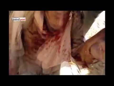 Exclusive Lynching Gaddafi frame-by-frame War Crime.SOK VIDEO