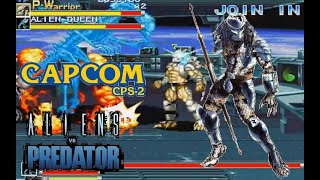 Alien Vs. Predator Arcade Lev8 Predator Warrior no death playthrough