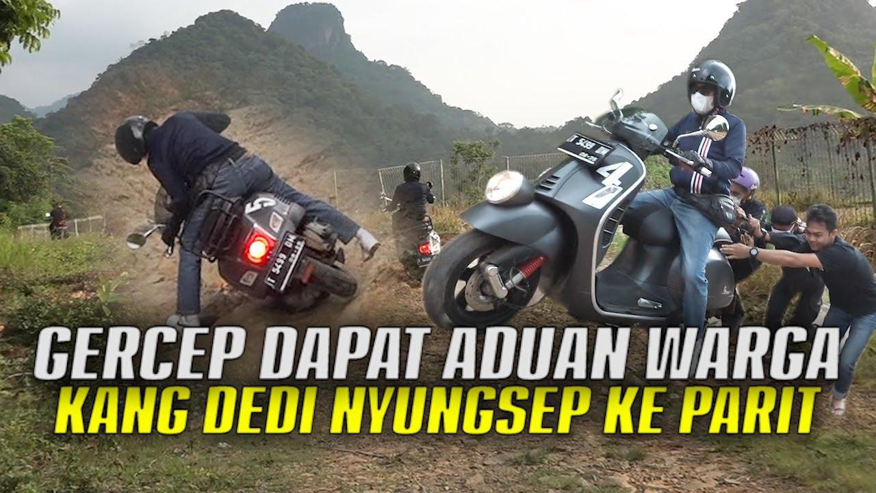 Download ADA KABAR MACAN NGAMUK TURUN GUNUNG   KANG DEDI GERAK CEPAT   MOTORNYA NYUNGSEP KE PARIT