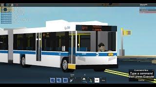 MTA Bus: Rosedale bound 2016 New Flyer XD60 (Unwrapped) Q111 [#5399] @ Parsons Blvd-88 Av