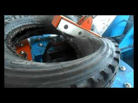 Waste Tire Cutting -recycling Equipment Video-for Rubber Chips
