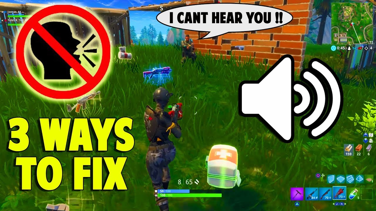 3 WAYS TO FIX VOICE CHAT PROBLEM IN FORTNITE [PC | PS4 ...