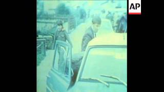 SYND 15/12/72 POLICE SHOT AND AFTERMATH  OF EXPLOSION AT KILLETER