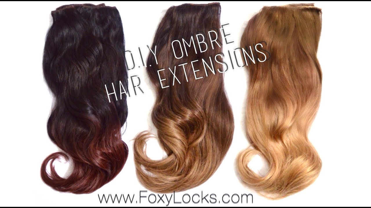 How To Diy Ombre Hair Extensions Using Home Dye Kit Youtube
