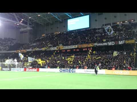 AIK-klacken på Tele2 Arena (Djurgården-AIK 2-2)