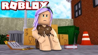 The SAD STORY OF the POOR GIRL in the MeepCity Roblox