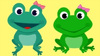 Five Little Speckled Frogs Song with Lyrics | 5 LITTLE FROGS Song For Babies Learn To Count