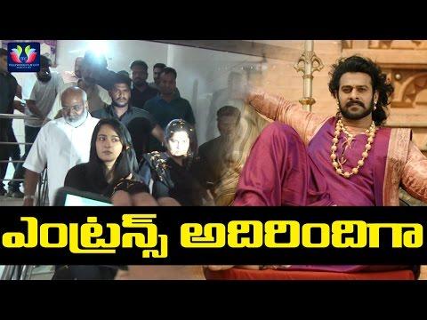 Baahubali 2 Movie Team Hungama At Theater Rajamouli Anushka Mm