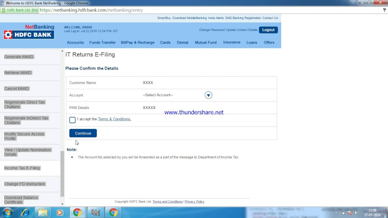 How to e-verify your income tax return using net Banking - YouTube