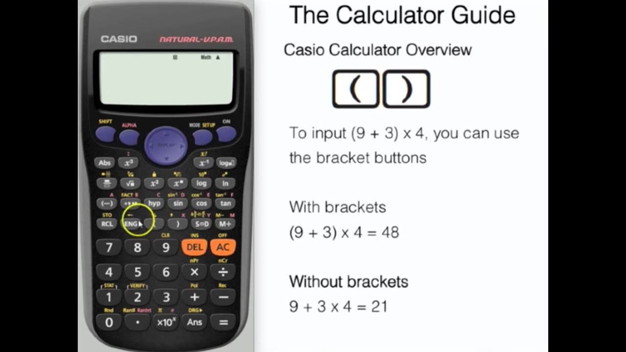 Casio Calculator Tutorial - Overview of Essential Buttons (fx-83GT ...