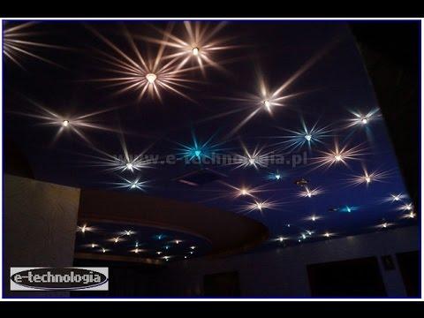 Oświetlenie Led Salonu Sufity Podwieszane Led Sufitowe Lampki