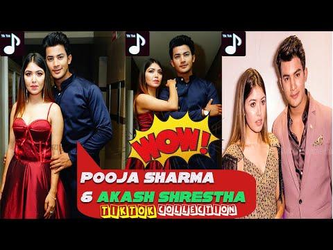 Pooja Sharma And Akash Shrestha New Tiktok ll Pooja Sharma Funny Tiktok ll