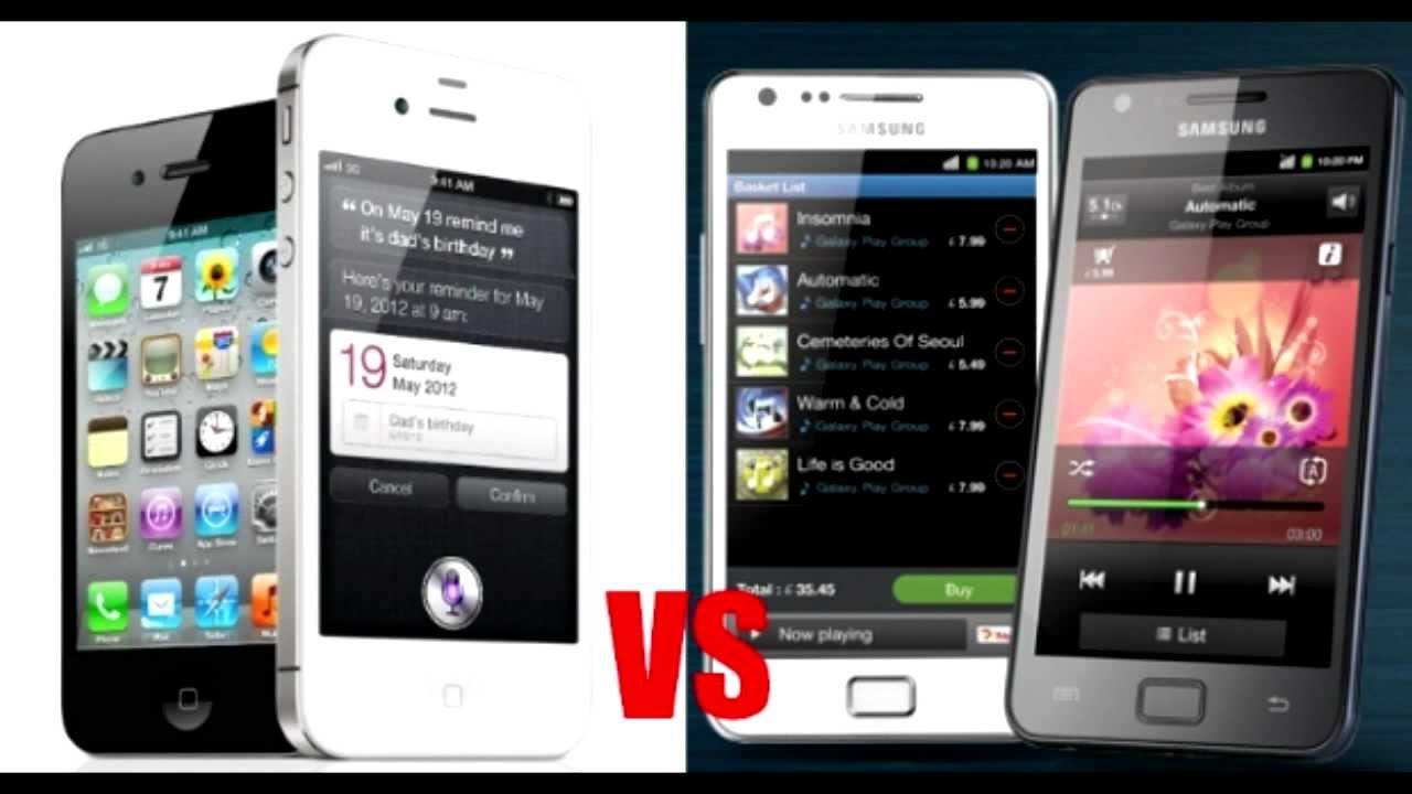 galaxy s2 vs iphone s4 whos
