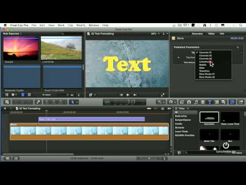 Create Killer Titles in Final Cut Pro X (webinar preview)