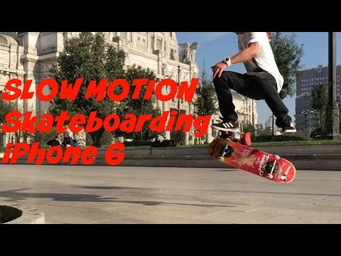 Slow Motion SKATEBOARDING - iPhone 6 - Milan and Bellinzona