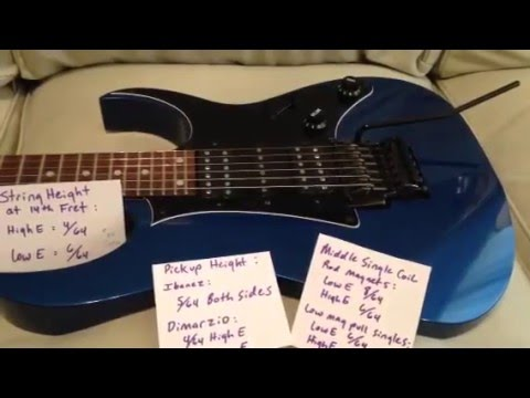 Guitar Pickup Height Ibanez : ibanez rg quick setup specs youtube ~ Vivirlamusica.com Haus und Dekorationen