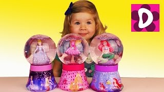 Оброз игрушек Снежные Шары Barbie doll Disney Princess Cinderella and Mermaid Snow globes