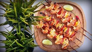 Рецепт | Шашлык из креветок в кокосовом маринаде | Бомбический рецепт креветок