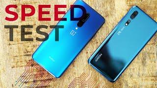 OnePlus 7 Pro versus ZTE Axon 10 Pro speedtest