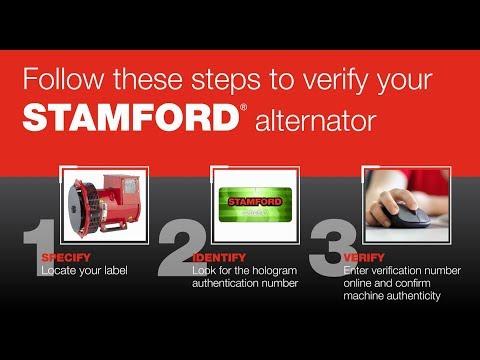 How to verify your Genuine STAMFORD alternator