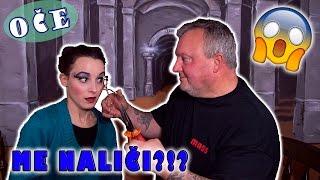 OČE Me Naliči?!?! | Dad Does My Makeup Tag