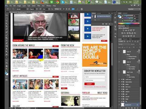 Create Wordpress News Template | Part Two | HTML Markup | RR Foundation Bangla Tutorials