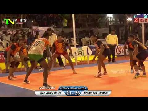 QF - Income Tax Chennai vs  Red Army Delhi | All India 'A' Grade Kabaddi Tournament | Pongal 2019
