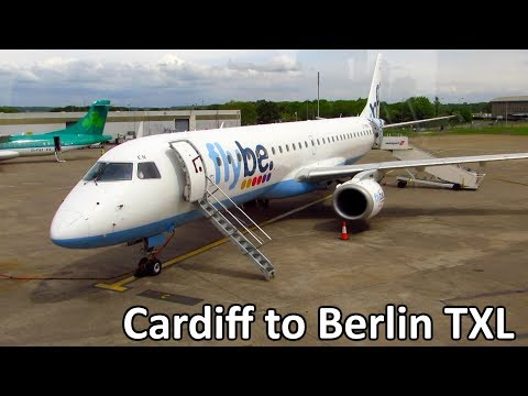 TRIP REPORT | Flybe Embraer E195 | Cardiff to Berlin TXL | Full Flight | Economy Class [Full HD]