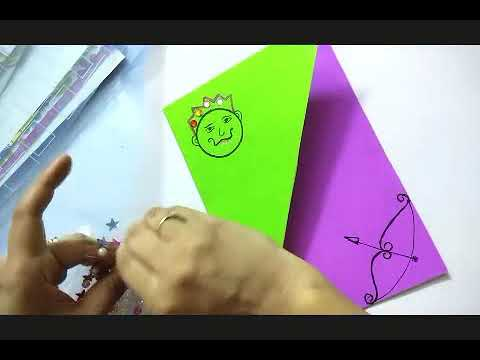 How to make dussehra greeting card dussehra card making idea for how to make dussehra greeting card dussehra card making idea for kids navratri greeting card m4hsunfo