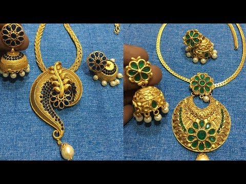 Latest Fancy Model Gold Chain With Pendant Sets Latest Gold Chain Pendant Designs Youtube