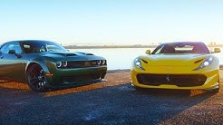 Head 2 Head FULL EPISODE | 2018 Ferrari 812 Superfast v 2019 Dodge Challenger Hellcat Redeye—Ep. 108