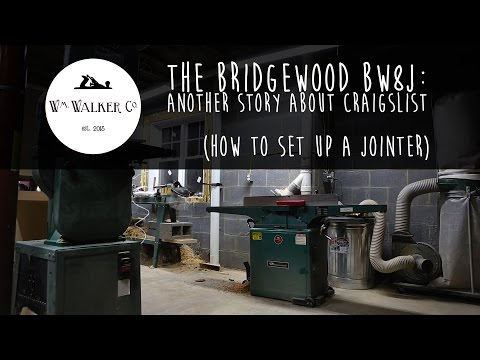 How to set up a jointer - another story about Craigslist