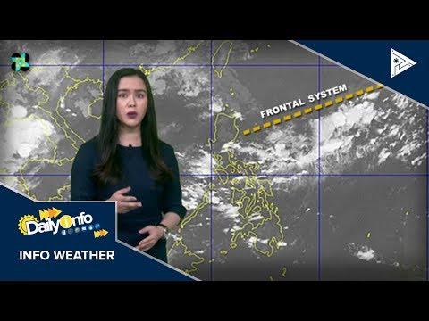 PTV INFO WEATHER: Frontal system, umiiral pa rin sa silangang bahagi ng northern Luzon
