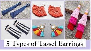 5 Tassel Earrings | How To Make Tassel Earrings At Home |DIY | Step By Step | Creation&you