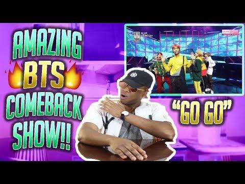 BTS - Go Go  (FIRST EVER BTS COMEBACK SHOW) (REACTION!!!)