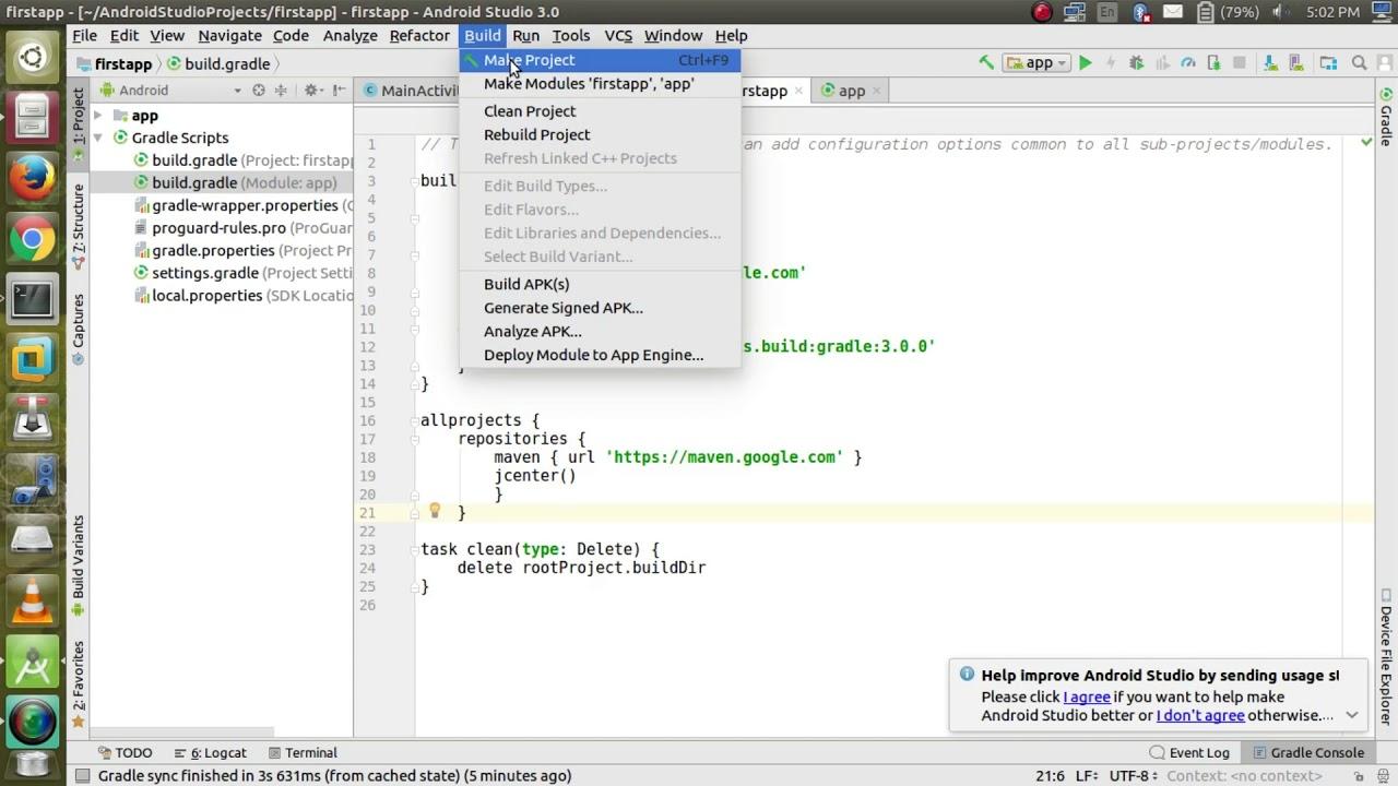 Android Studio 3 0 Gradle problem Fixed (Linux , WIndows, Mac OS)