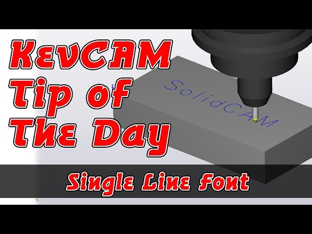 Tip of the Day - Single Line Font