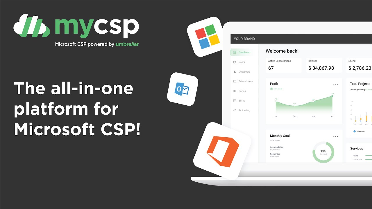 MyCSP Demo - Microsoft CSP powered by Umbrellar - YouTube