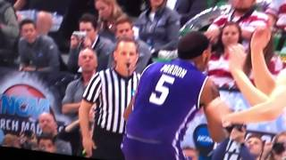 Northwestern Basketball Missed Call by Refs - Basket Interference Goal Tending by Gonzaga
