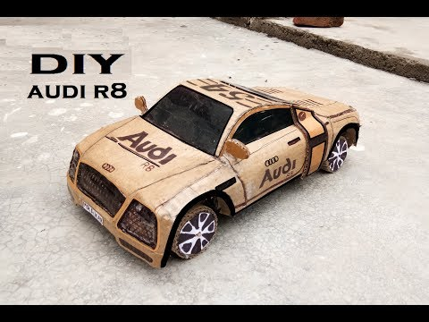 How to Make a Car ||homemade car, homemade toy, Powered audi R8 Car || Cardboard audi car,