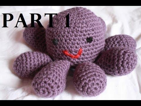 Amigurumi Octopus Tutorial : Crocheted Amigurumi Octopus Tutorial Part 1 - YouTube