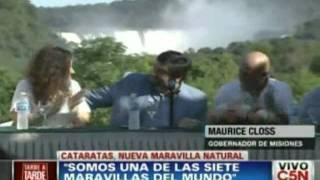 Las Cataratas del iguazu fueron elegidas como una de las siete maravillas del mundo