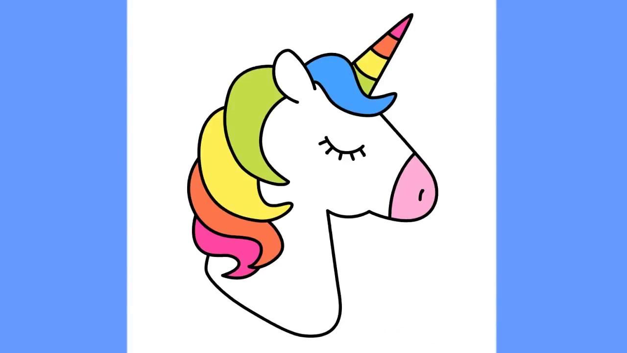 draw unicorn with rainbow