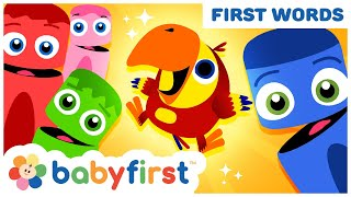 Toddler Learning Video w Color Crew & Larry | Learn ABC Alphabet & Fruits Name for Kids | BabyFirst