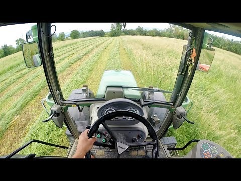 Cab View | Fendt 311 Vario + KUHN FC 283 GR II | Cutting Grass