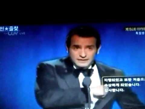 The Artist JEAN DUJARDIN, BEST ACTOR WINNER OSCAR 2012