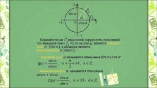 0702 Тригонометрические функции числового аргумента