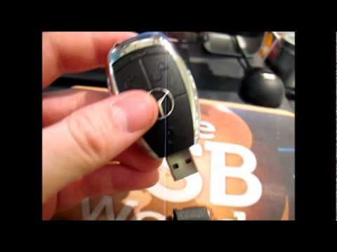 Mercedes benz key usb flash drive youtube for Mercedes benz flash drive with box