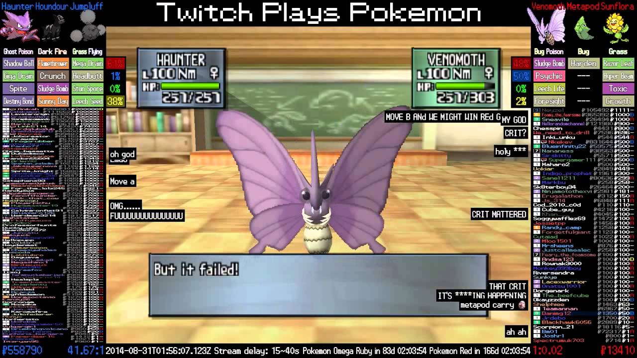 Twitch Plays Pokemon Stadium 2 Atv Venomoth Sweeps Against Big
